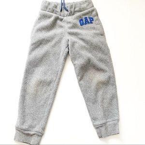 5/$25 gap kids boys fleece grey jogger pants xs